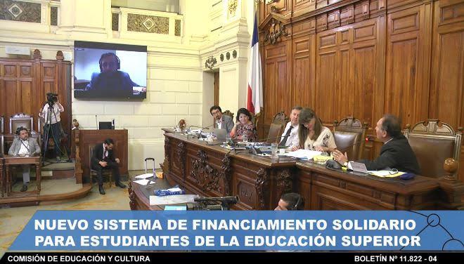 Sebastian Gallegos, investigador COES, en Comisión de Educación y Cultura