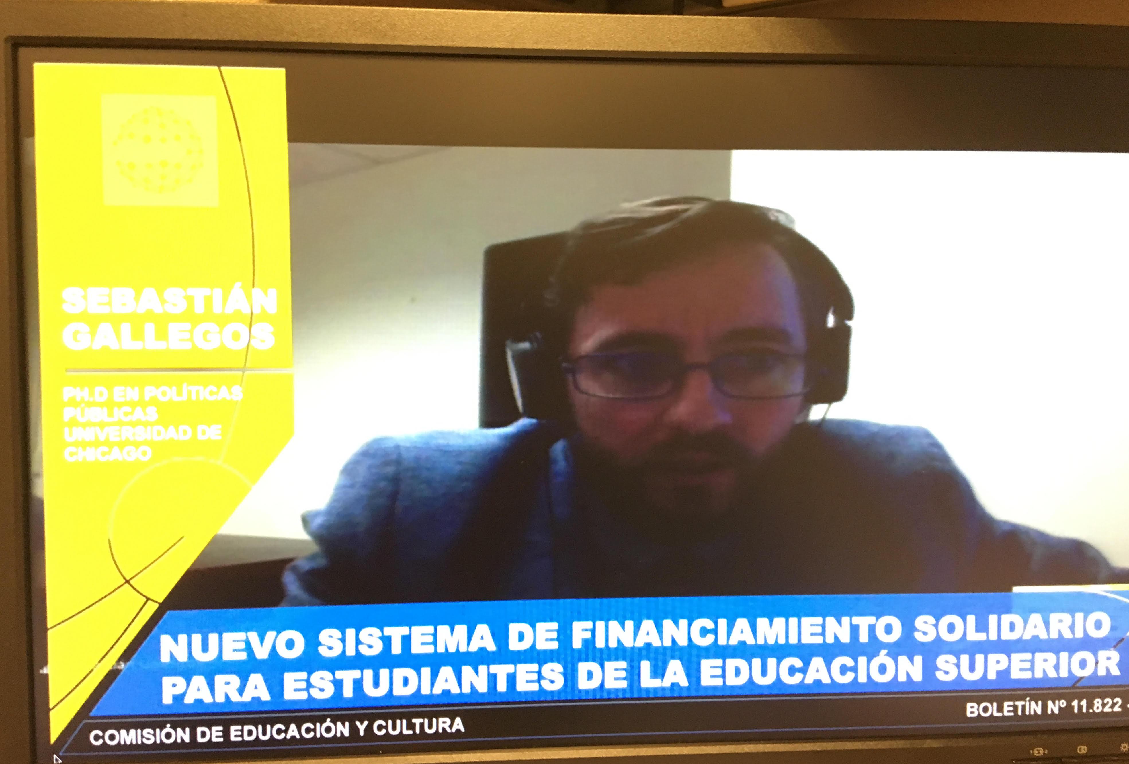 Sebastián Gallegos en la Comisión de Educación y Cultura del Senado